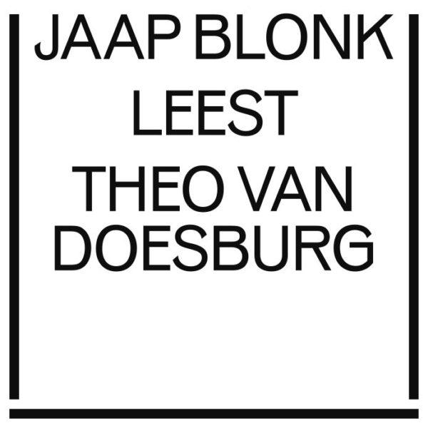 het balanseer / bozar / Jaap Blonk leest Theo Van Doesburg / 2016