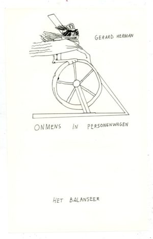Gerard Herman / Onmens in personenwagen / het balanseer / 2016