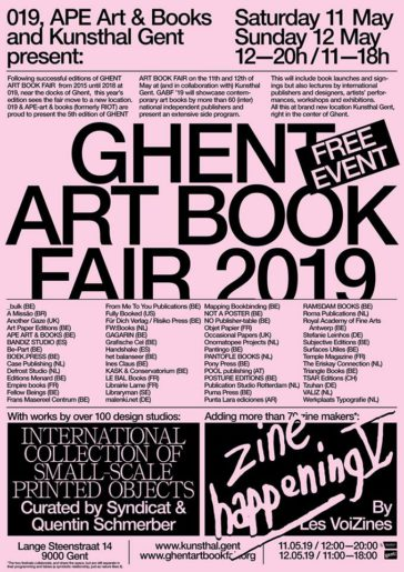Ghent Art Book Fair 2019
